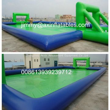 durable inflatable sport games,land inflatable football pitch,water inflatable soap soccer field/arena for sale