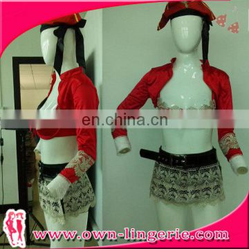 sexy one set pirate costume carnival costume adult girl costume