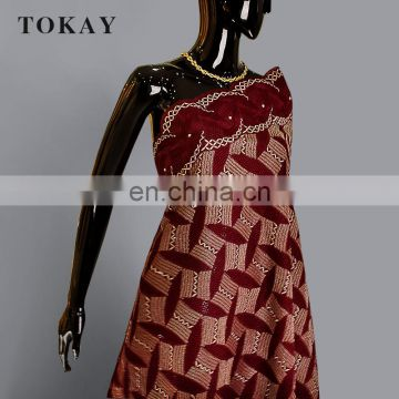 2017 wine red african dry lace suitable for man and woman