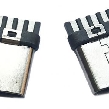 Cheap and High Quality 4 Pins Type C plug USB Connector made by Copper Alloy and PBT Used for Data Cable