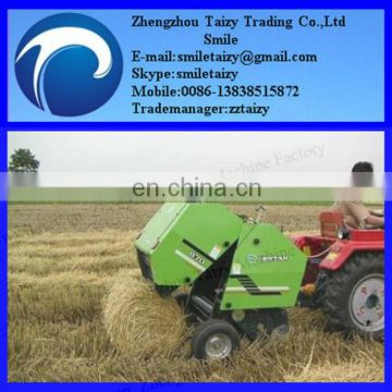Hay baler machine with pressed bales for sale