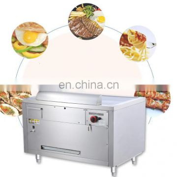 Golden supplier commercial gas griddle with gas fryer