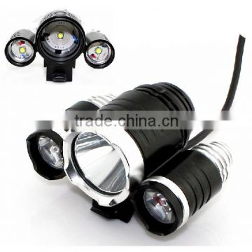 Goread 3 head 3*T6 high bright aluminum 30W 3600lum head light bike light