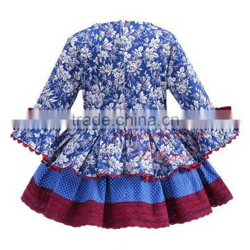 spanish flower girl dress baby cotton frock design for 3 years old girl wear