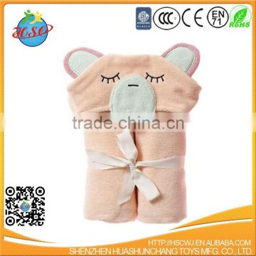 cute animal kids hooded bath towel