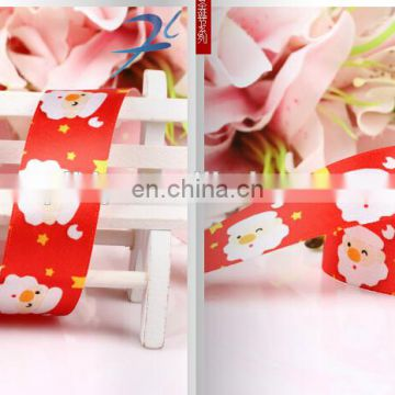 hot sell stock printed christmas grosgrain ribbon