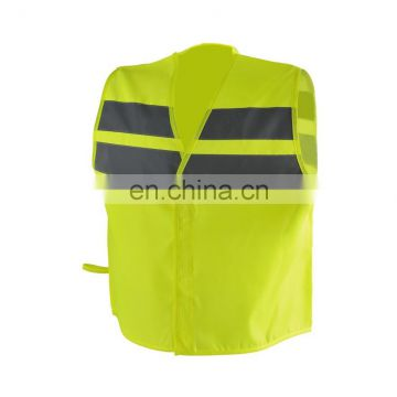 2016 fluorescent children safety vest with reflective tape