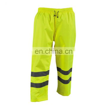 EN ISO20471 colorful waterproof reflective warning safety pants