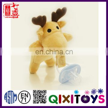 Funny plush animal toys pacifier for babies