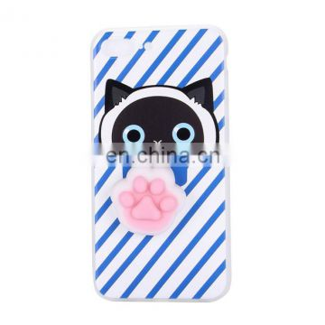 Hot sale squishy finger pinch case,hard PC + Soft TPU hybrid case,back case for iPhone 7 Plus