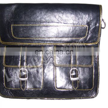TABLET CROSS SHOULDER LEATHER BAG PLAIN