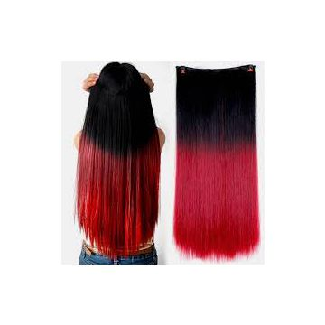 Bright Color Synthetic Hair Double Wefts  Extensions 14inches-20inches No Lice Hand Chooseing