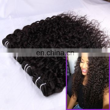 Aliexpress Made in China top grade 7a real virgin deep curl wave Brazilian remy human hair extension