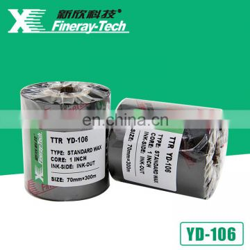 Thermal transfer ribbon 70mm*300m barcode wax