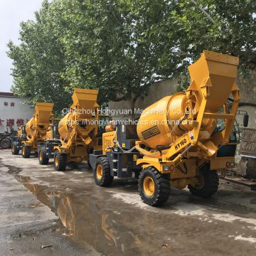 2.0M3 model self loading concrete mixer with water pump