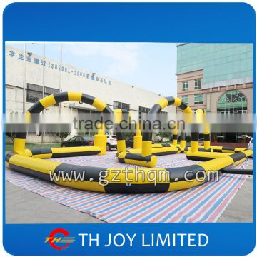 customized size inflatable go kart track inflatable race track inflatable zorb ball track for sale