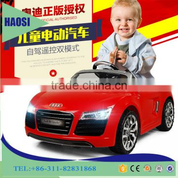 12V battery kids ride on car audi children electric car double door cheap pedal car for kids driving