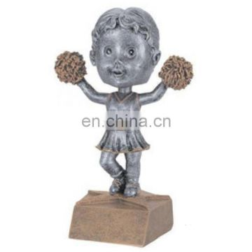 resin personalized cheerleader figurines clay model for desktop decor