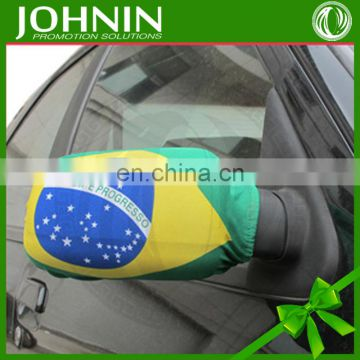custom decoration usage polyester national sock cover car mirror flags