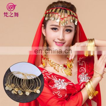Wholesale gold coins belly dance bracelet bangle jewelry P-9043#