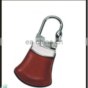 Travelling Collection Customized Shape Brown Leather Metal Keychain In Bulk