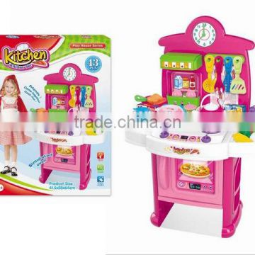 Promotional children kitchen set toy cooking games for girl toy