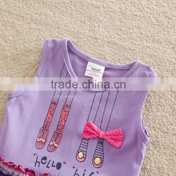(SD6618) 2-6y 2 colors ready to ship baby clothes sets summer cool girls clothing sets children garments