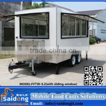 Multifunctional Fried Ice Cream Machine Kiosk price outdoor fast food van for sale design