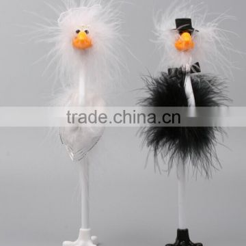 hot selling promotional ostrich feather fluffy bird pen