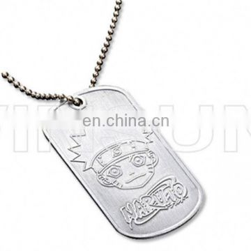 Whole sale sublimation blank metal dog tag with chain for military
