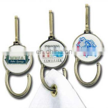 metal golf towel hanger and magnetic ball marker