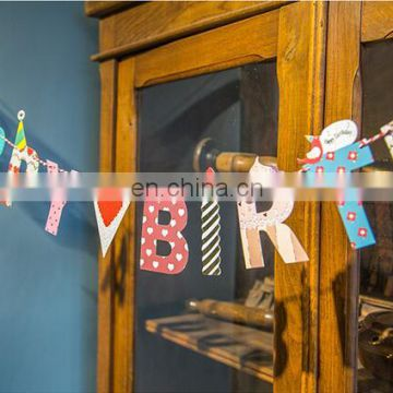 Mini printing paper flag bunting for holiday festival /party item type decoration
