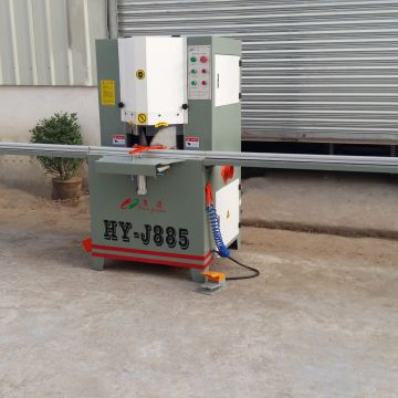 Double Head Cutting Saw 380v 50hz Aluminium Window Making Machine