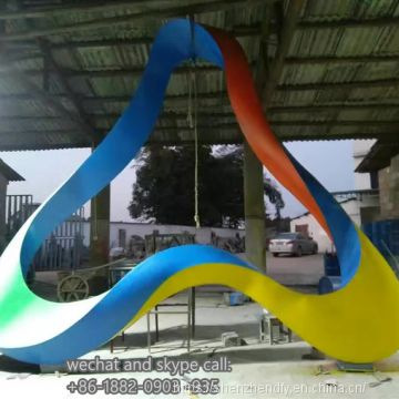 Customized Stainless Steel Colour Sculpture Ornaments Outdoor Decoration High Quality