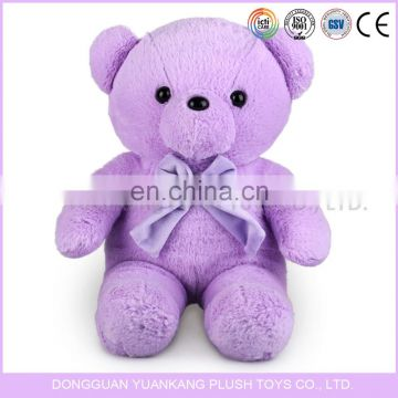 Beautiful bear purple color teddy bear plush toy with scarf