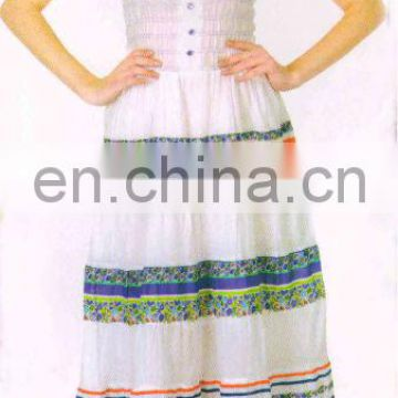 casual dress for outdoor parties stylish dress cotton printed dress