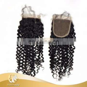 Wholesale unprocessed virgin brazilian hair deep wave closure sixe girl india