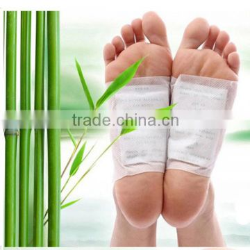 whosale green tea bamboo vinegar foot detox patch/anti- fatigue detox foot patch with CE certificate