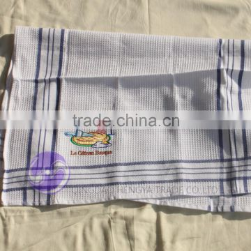 china supplier embroidery designs 100% cotton waffle kitchen tea towels