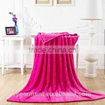 warm and luxury solid color design faux fur throw blanket