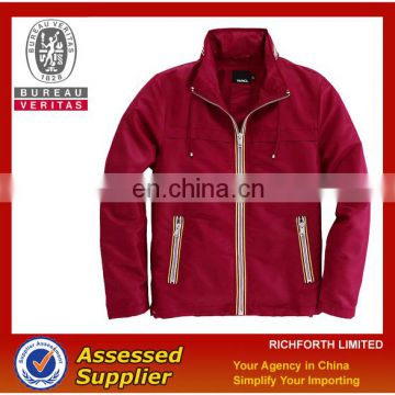 mens fashion red winter jacket