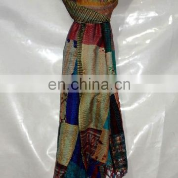 Kantha Shawls Women Neck Wrap Long Dupatta Stole Indian Handmade