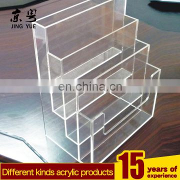 Clear 4 tiers pmma plexiglass a4 paper file holder acrylic a4 paper file holder