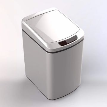 Stainless Steel Automatic Trash Can with Odor Control System Big Lid Opening Sensor Touchless Kitchen Trash Bin