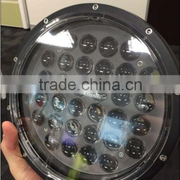 9inch 320w round led driving light waterproof 4D offroad 4X4 led work light for SUV ATV car accessories