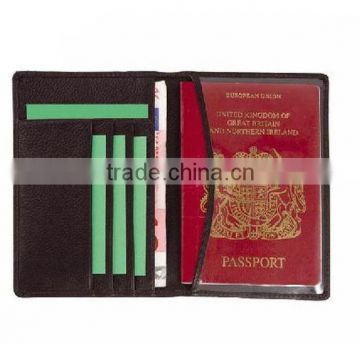 Genuine leather passport card holder, wholesale men leather passport cover