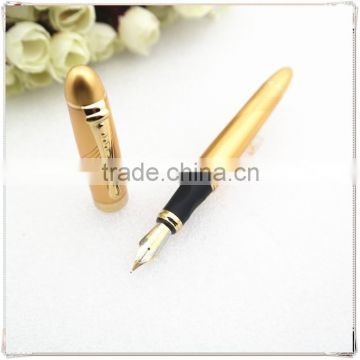 High-quality golden pen , short metal pen with gold