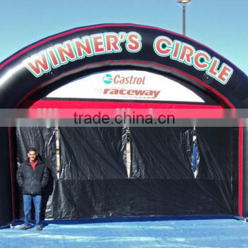 Inflatable Race Event Entrance Arch/Black Inflatable Advertising Archway with Fan