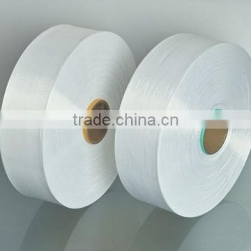 100%Polyester yarn POY raw white 370D/192F TBR recycled polyester