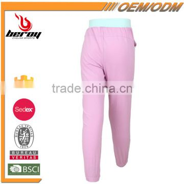 100% Polyester Breathable Girls Summer Sweat Pants for Wholesale